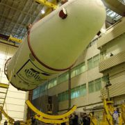 One-piece molded front radome shells for SOYUZ-2 class launch vehicles